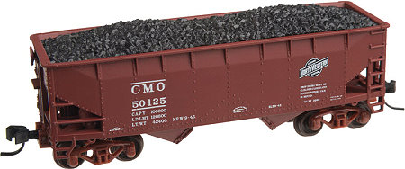 Chicago & North Western (CMO) Atlas 2 Bay Offset Side Hopper