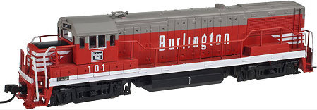 Atlas CB&Q Burlinglton U25B