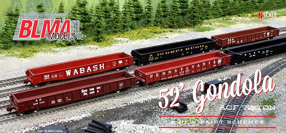 ATLAS 50 003 417 PENN CENTRAL ACF 70-Ton 52/' Gondola Car # 513011 N Scale