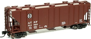 BLMA Pullman Std ATSF 4000 cu ft Covered Hopper