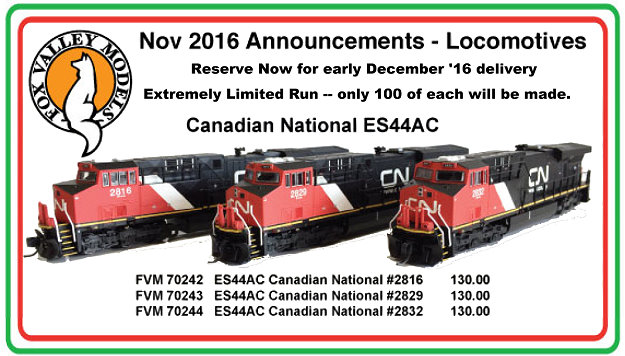 Fox Valley Models Canadian National ES44AC