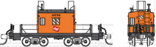 Fox Valley Models Milwaukee Road Transfer Caboose