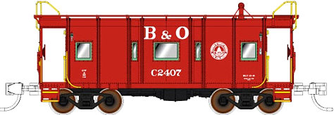 Fox Valley Models B&O Red Wagon Top Caboose