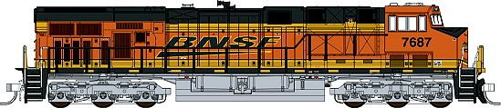 Fox Valley Models BNSF Original Power Bar GE ES44DC