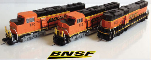 Fox Valley Models BNSF Wedge Logo GP60's