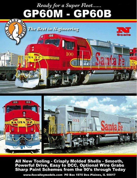 Fox Valley Models ATSF GP60M
