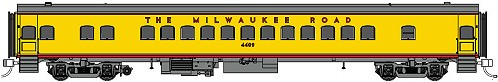 Fox Valley Models Milwaukee Road Yellow/Gray Coach