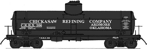 Chickasaw Refining  InterMountain 8,000 Gallon Tank Car