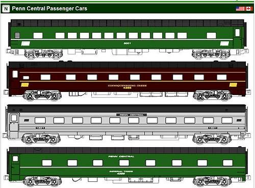 Kato 1970 39 S Amtrak Penn Central Passenger Sets