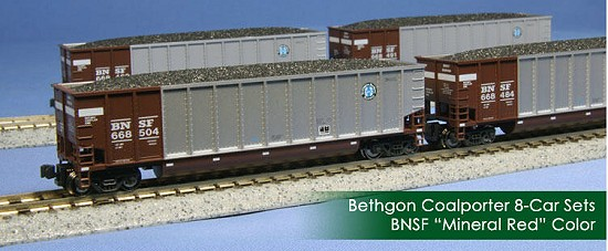 Kato BNSF Mineral Red Bethgon Coal Porter
