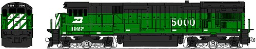 Burlington Northern Kato GE C30-7 Diesel