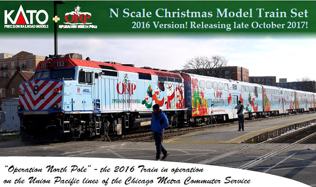 last year kato introduced their first operation north pole christmas train set this is still available please see below as a result of the exceptional - Christmas Train Chicago