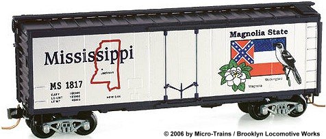 Micro-Trains Mississippi State Car