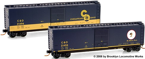 Micro-Trains C&O Cameo Series, Car #6, Front/Rear
