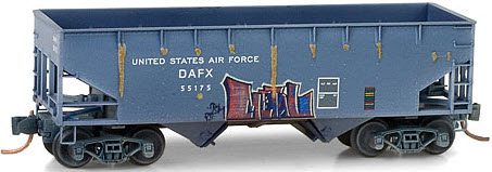 Micro-Trains US Air Force Graffitied 33' Twin Bay Hopper