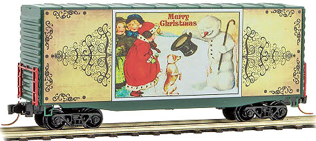 Micro-Trains 101 00 818 Postcard Christmas Series Car #8