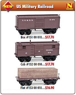 Micro-Trains 26' Civil War Era freight cars