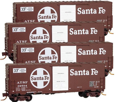 Micro-Trains 993 00 102 ATSF Box Car Runner Pack