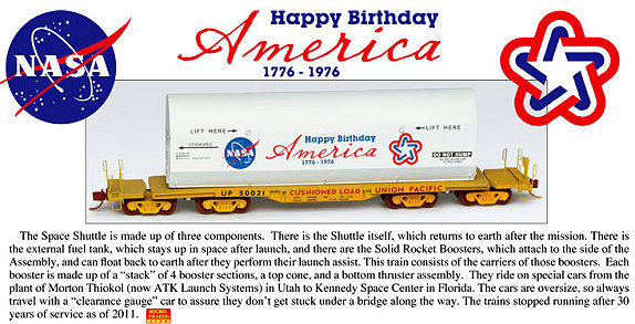 NASA Bicentennial Space Shuttle Rocket Booster Carrier