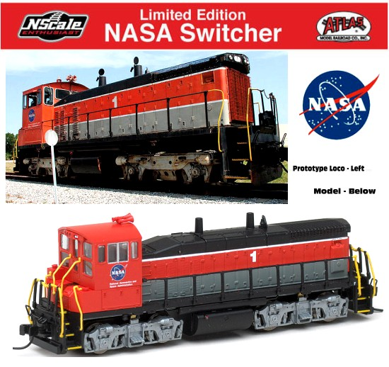 NASA Railroad MP15DC Loco