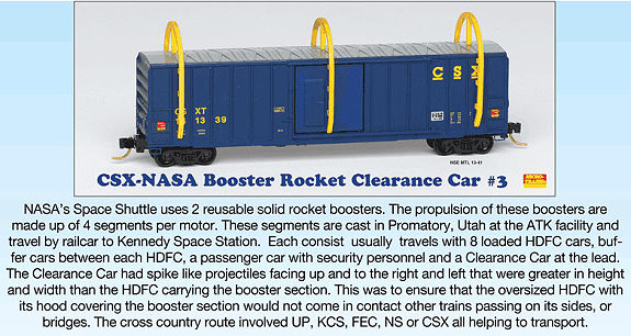 CSX-NASA Clearance Car