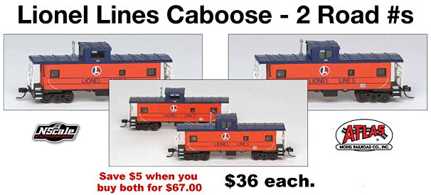 N Scale Collector Special Run Cabooses