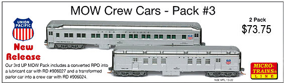 N Scale Enthusiast MOW Crew Cars