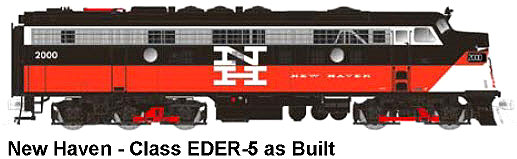 New Haven N Scale FL-9, As Built