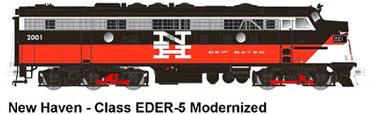 Modernized New Haven FL-9, N Scale