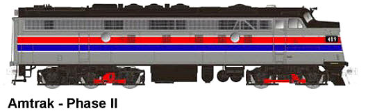 Rapido Trains Amtrak Phase II FL-9