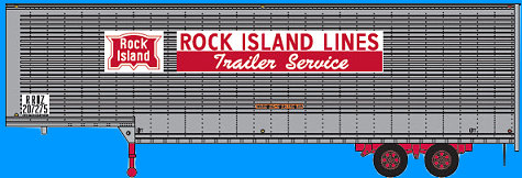 Trainworx Rock Island Drop Frame Trailer