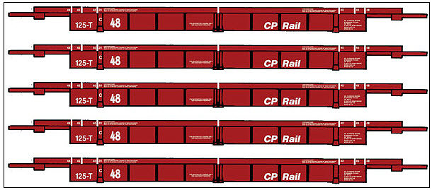 Walthers CP Rail Thrall 5 Unit Articulated 48' Double Stack Well Car