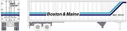 Boston & Maine Pines Trailer