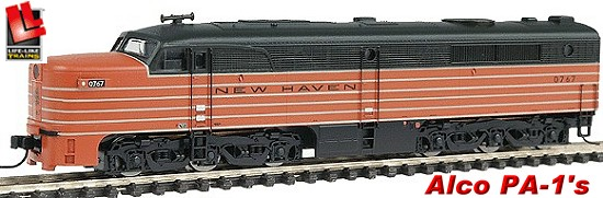 Life-Like N Scale Alco PA's