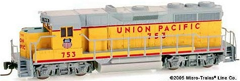 Z Scale Union Pacific SD-35