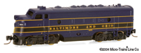 Micro-Trains Z Scale F7 B&O