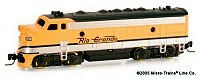 Micro-Trains Z Scale F7 D&RGW