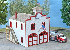 STS Laser Cut Sprinfield Fire Station Kit